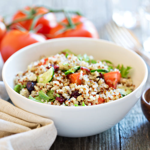 a bowl of quinoa salad