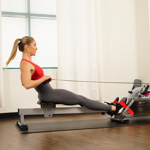 a trainer is rowing