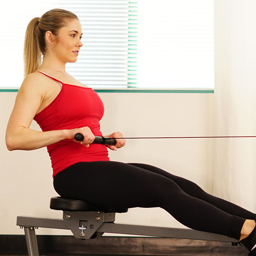 a lady is rowing