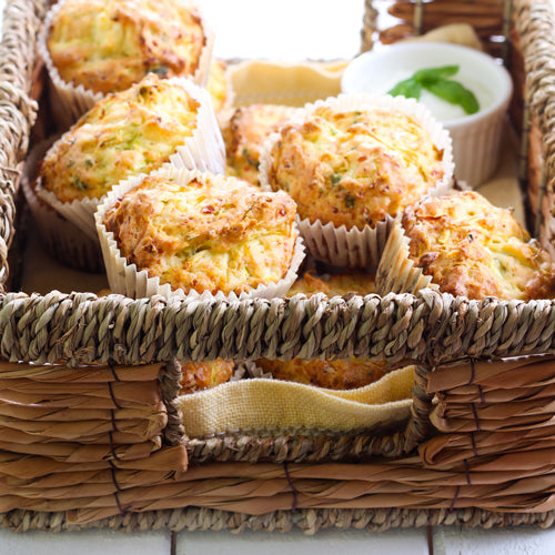 a box of zucchini muffin bites