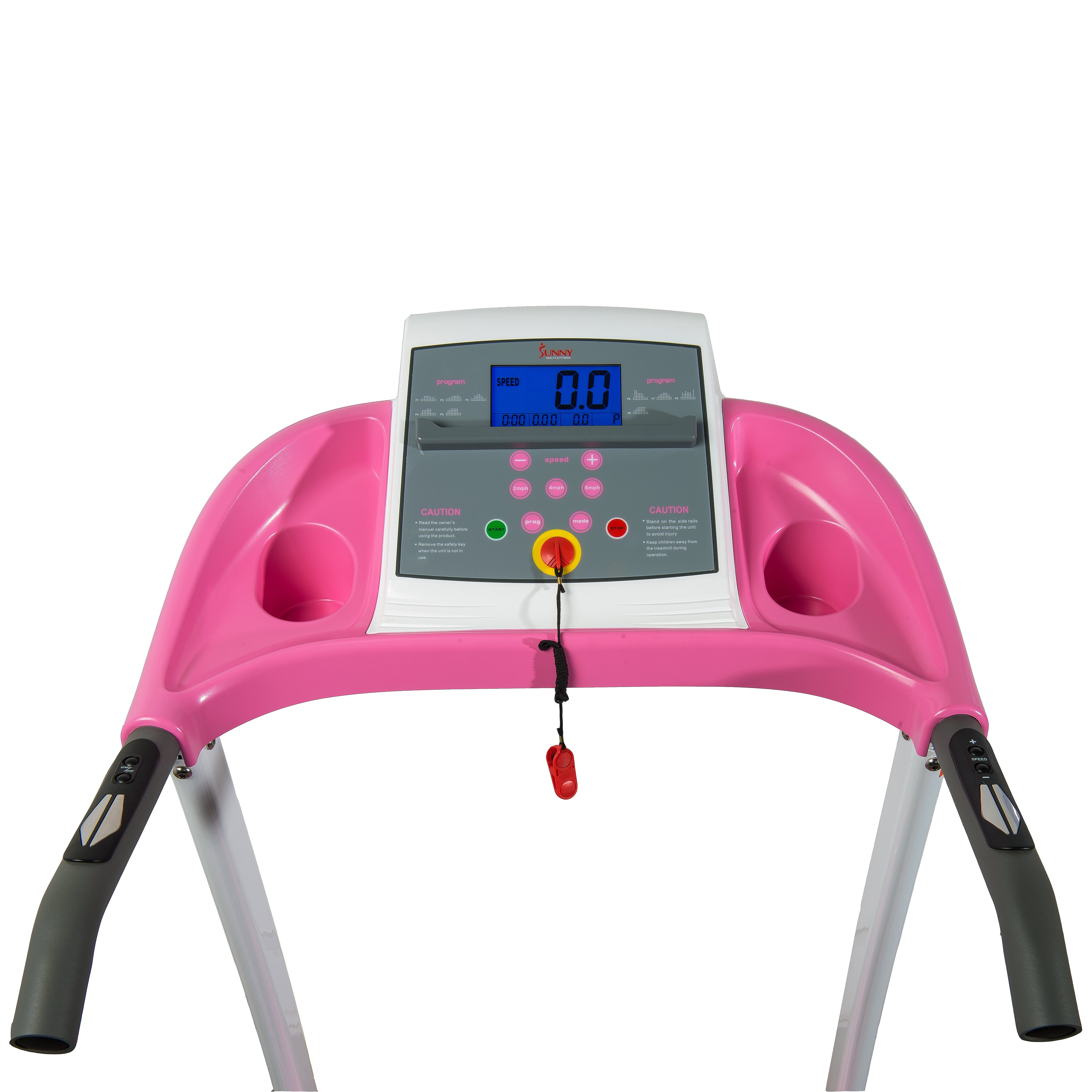 pink treadmill console
