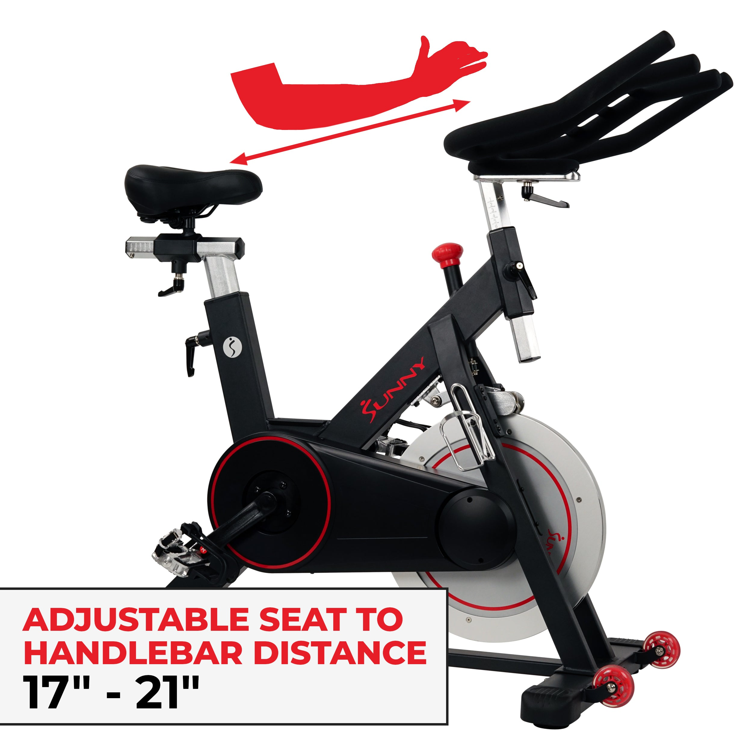 sunny-health-fitness-bikes-magnetic-belt-drive-indoor-cycling-bike-high-weight-capacity-and-tablet-holder-SF-B1805-fittings