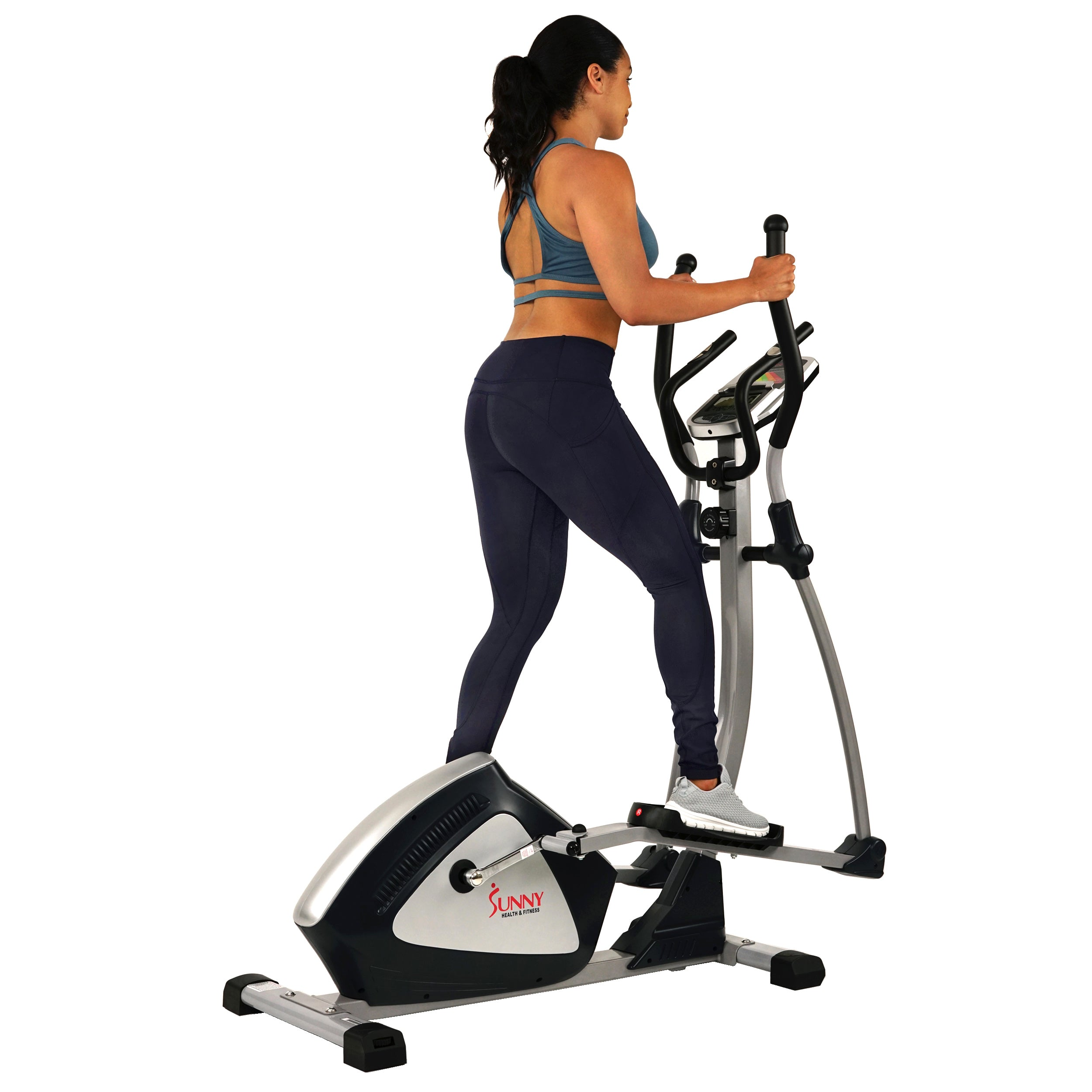 sunny-health-fitness-ellipticals-magnetic-elliptical-machine-tablet-holder-LCD-monitor-heart-rate-monitoring-enderance-zone-SF-E3804-durable