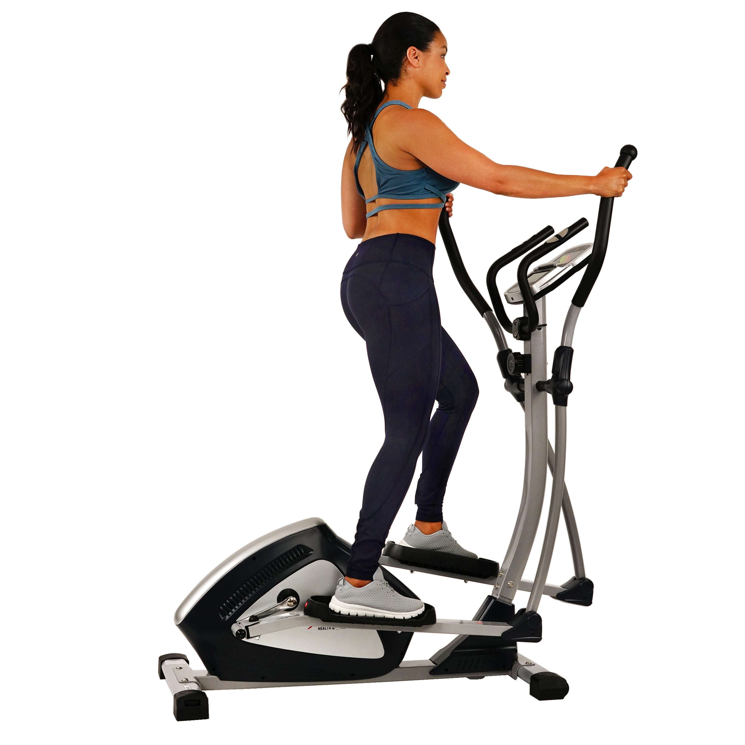 sunny-health-fitness-ellipticals-magnetic-elliptical-machine-tablet-holder-LCD-monitor-heart-rate-monitoring-enderance-zone-SF-E3804-handles