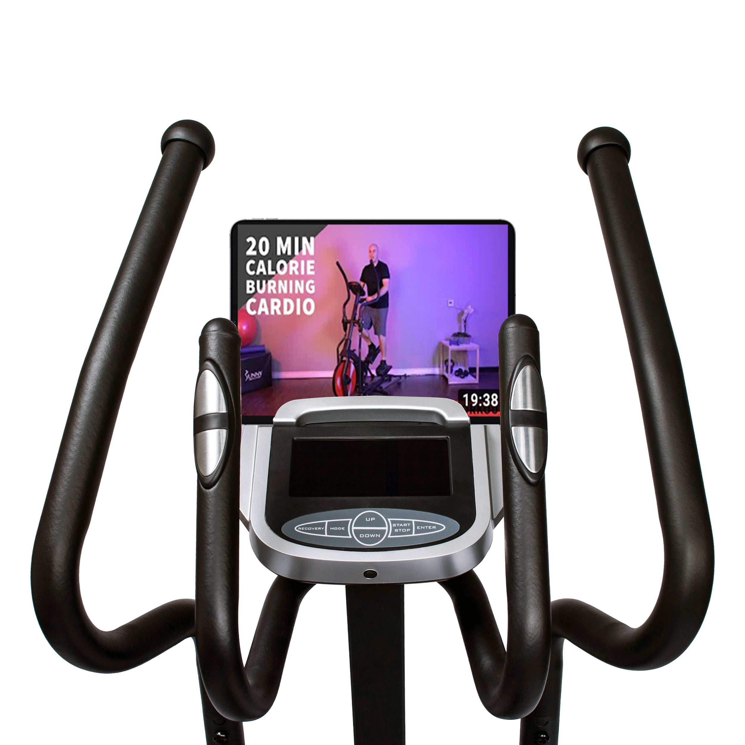 sunny-health-fitness-ellipticals-magnetic-elliptical-machine-tablet-holder-LCD-monitor-heart-rate-monitoring-circuit-zonw-SF-E3862-device-holder