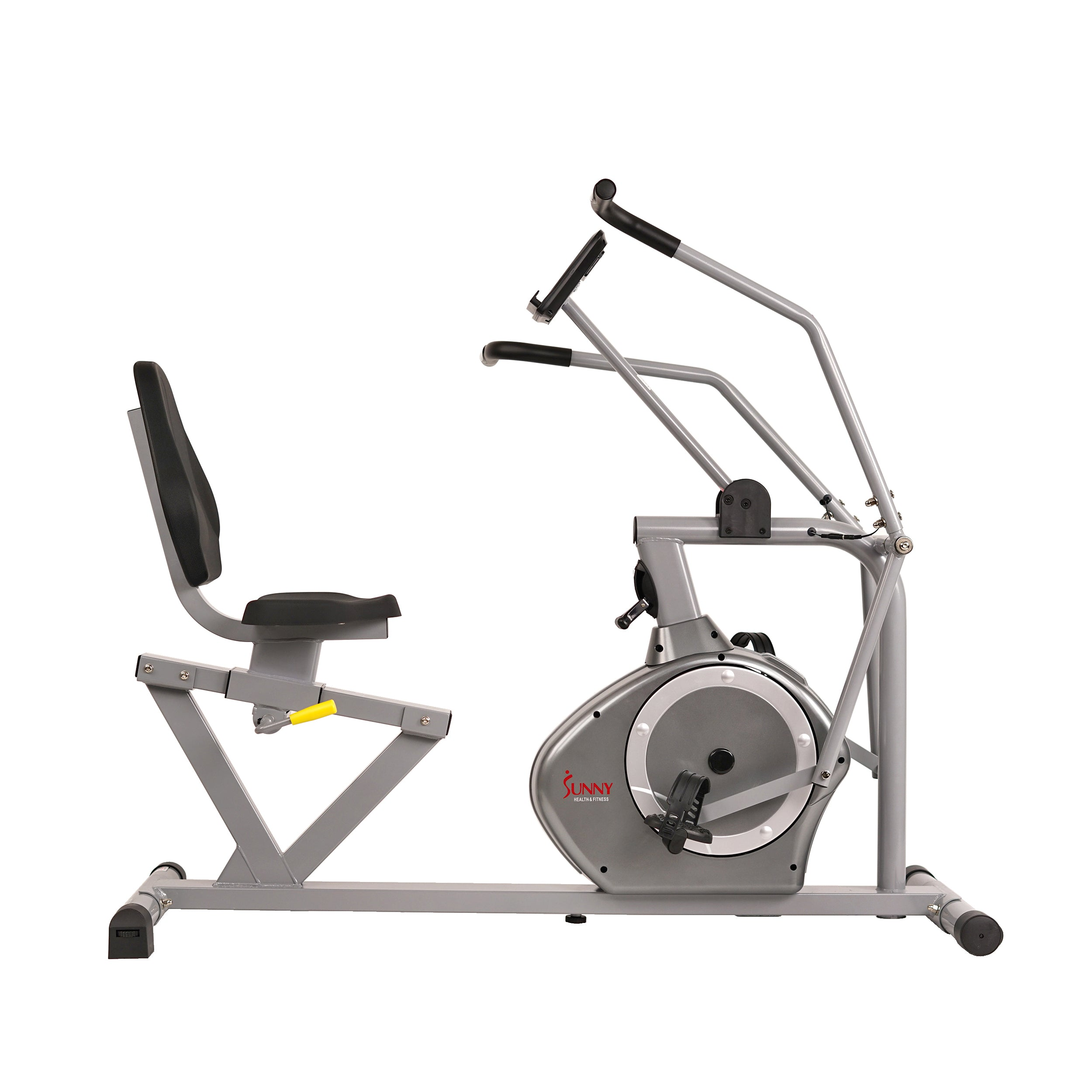 sunny-health-fitness-bikes-magnetic-recumbent-exercise-bike-350lb-high-weight-capacity-arm-exercisers-monitor-pulse-rate-SF-RB4708-350lb -weight-cap