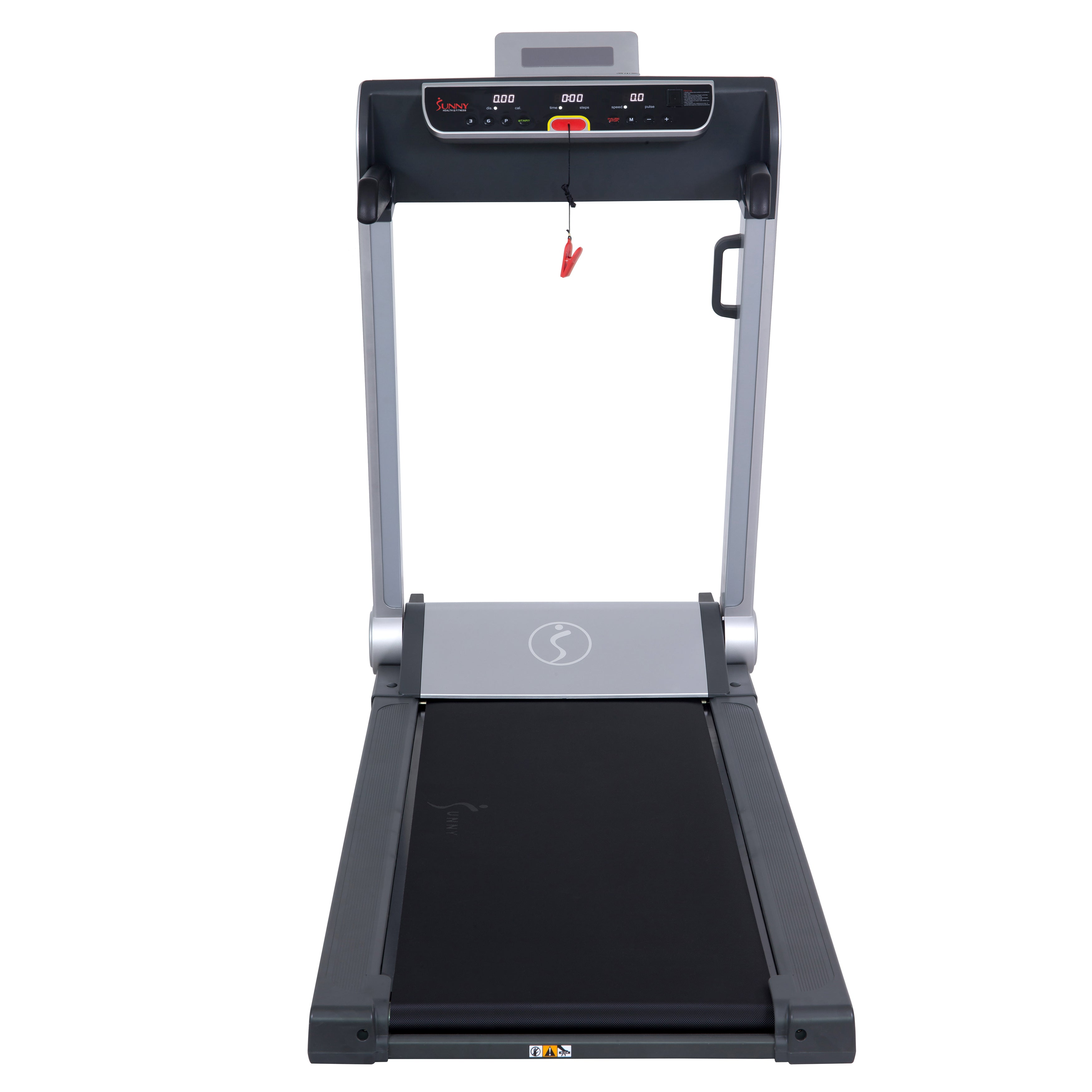 sunny-health-fitness-treadmills-running-treadmill-20-wide-belt-flat-folding-low-pro-portability-speakers-USB-SF-T7718-tread-deck