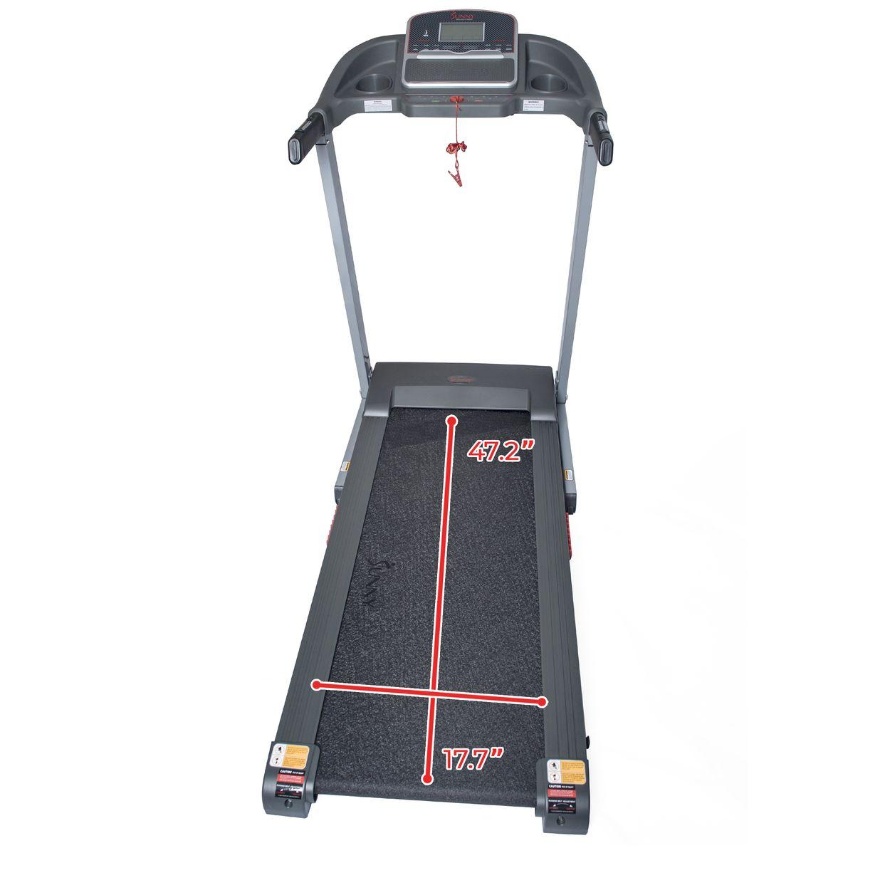 sunny-health-fitness-treadmills-electric-treadmill-manual-incline-USB-charging-function-SF-T7860-tread-deck