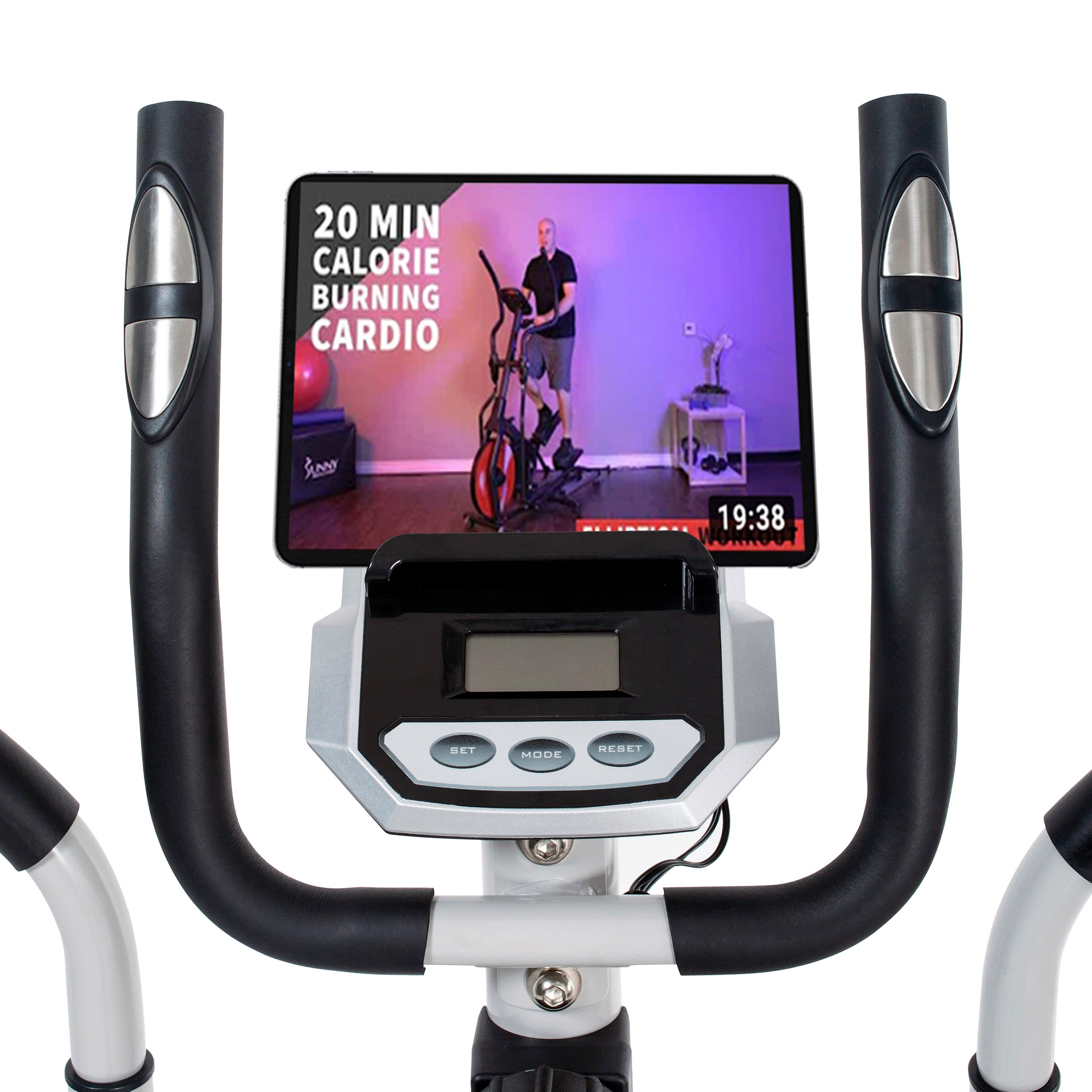 sunny-health-fitness-bikes-2-in-1-magnetic-elliptical-upright-bike-SF-E3903-deviceholder