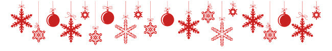 round and snowflake ornaments