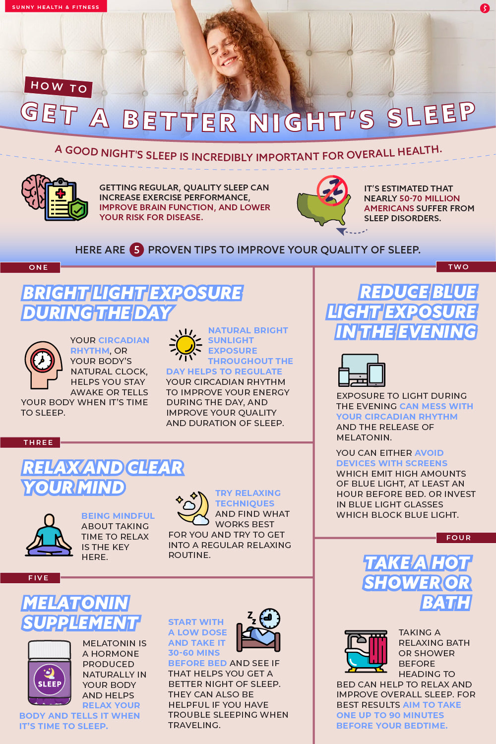 How to Get a Better Night's Sleep Infographic