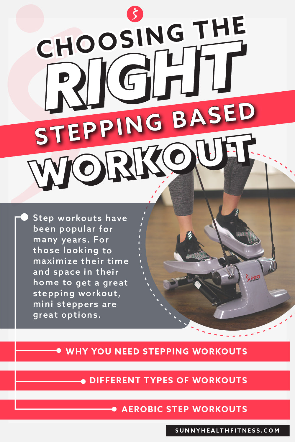 Choosing the Right Stepping Based Workout Infographic
