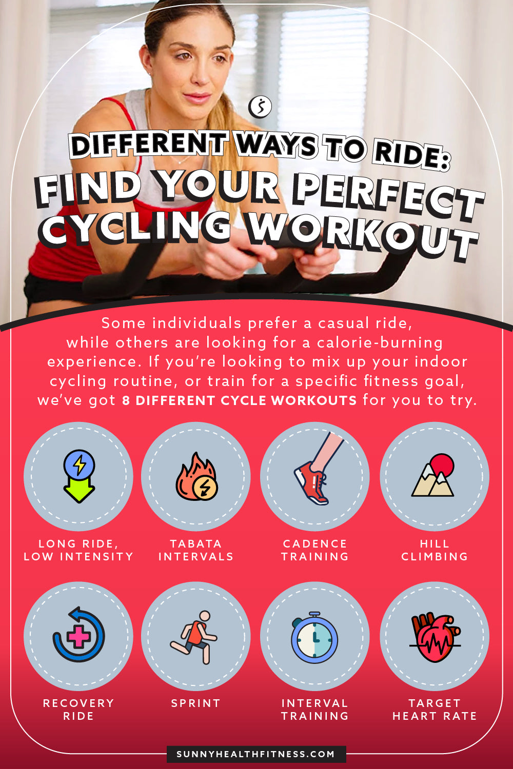 Different Ways To Ride: Find Your Perfect Cycling Workout Infographic