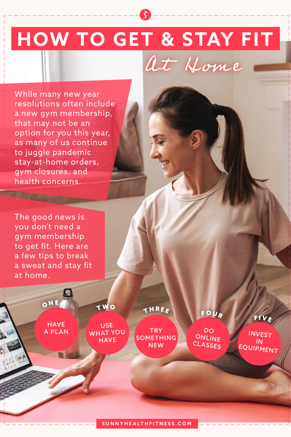 Get & Stay Fit At Home Infographic