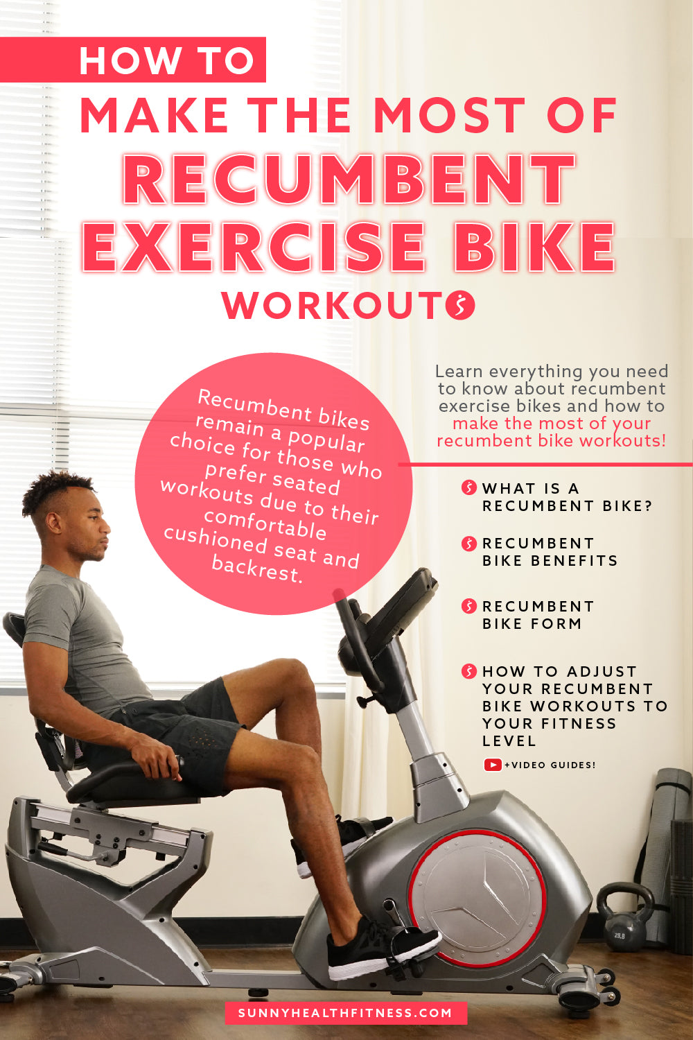 Recumbent Exercise Bike Workouts Infographic