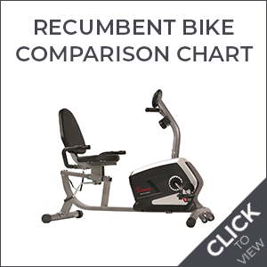 Recumbent Bike Comparison Chart