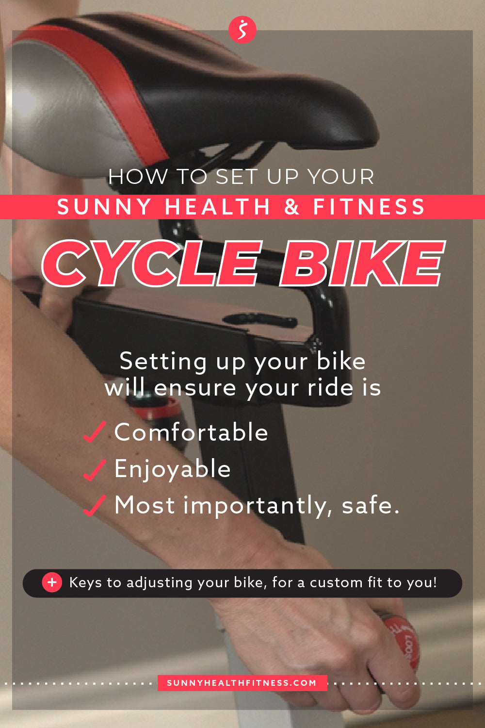 How to Set Up Your Sunny Health & Fitness Cycle Bike Infographic
