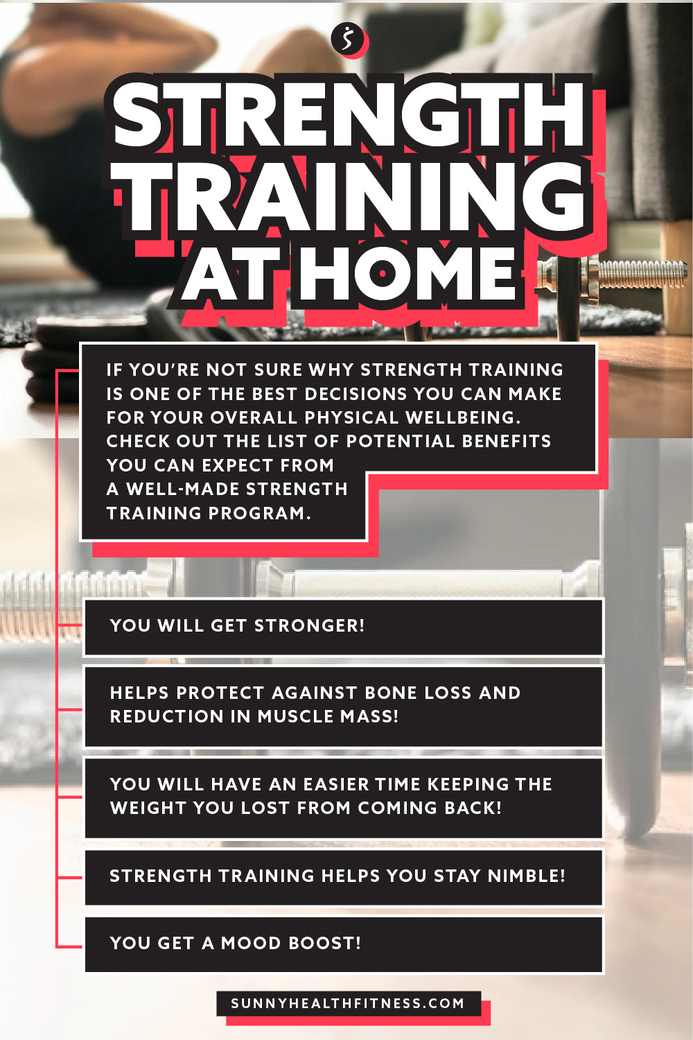 Strength Training at Home Infographic