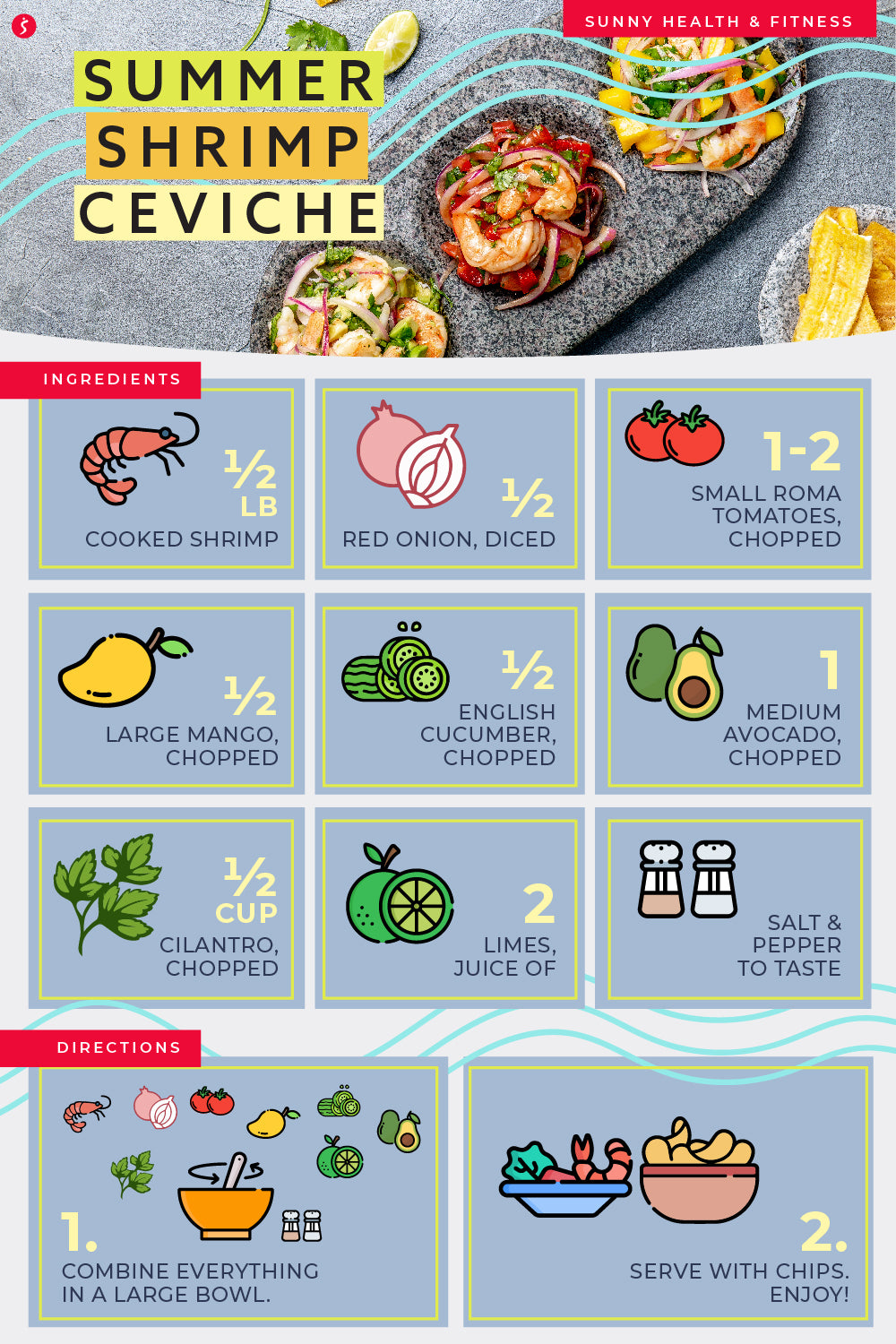 Summer Shrimp Ceviche Infographic