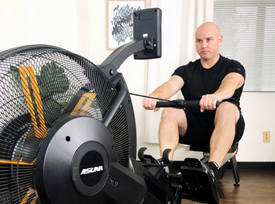 Sunny in-house trainer Matt is rowing