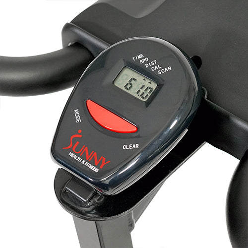 sunny-health-fitness-bikes-chain-drive-indoor-cycling-bike-lcd-monitor-SF-B1423C-monitor