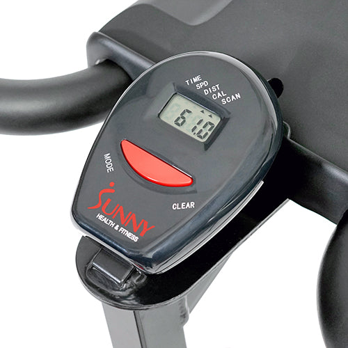 sunny-health-fitness-bikes-belt-drive-indoor-cycling-bike-lcd-monitor-SF-B1423-monitor