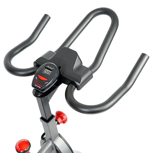 sunny-health-fitness-bikes-belt-drive-indoor-cycling-bike-lcd-monitor-SF-B1423-handlebar