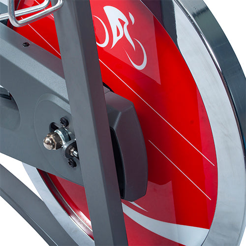 sunny-health-fitness-bikes-chain-drive-indoor-cycling-bike-lcd-monitor-SF-B1423C-flywheel