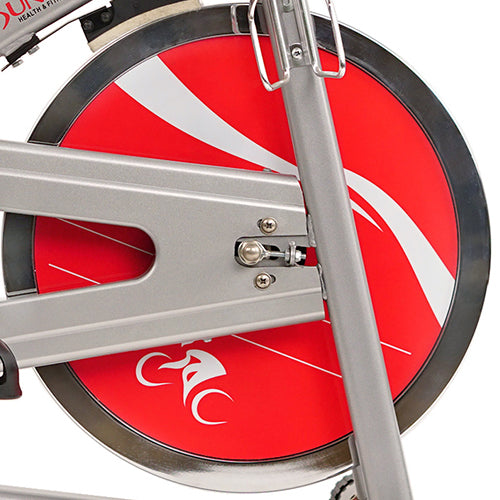sunny-health-fitness-bikes-chain-drive-indoor-cycling-bike-lcd-monitor-SF-B1421-flywheel