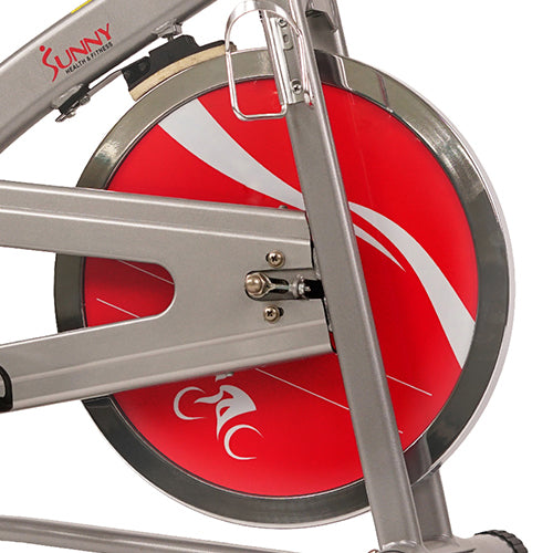 sunny-health-fitness-bikes-chain-drive-indoor-cycling-bike-monitor-lcd-SF-B1421-flywheel
