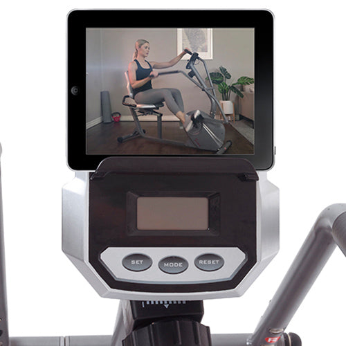 sunny-health-fitness-bikes-cross-trainer-magnetic-recumbent-bike-arm-exercisers-SF-RB4936-deviceholder