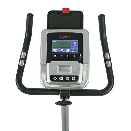 sunny-health-fitness-bikes-evo-fit-stationary-upright-bike-24-level-electro-magnetic-resistance-SF-B2969-performancemonitor