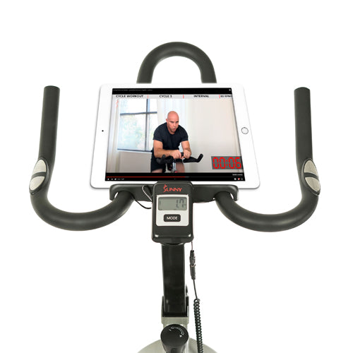 sunny-health-fitness-bikes-fitness-pro-II-indoor-cycling-bike-device-mount-advance-display-SF-B1995-deviceholder