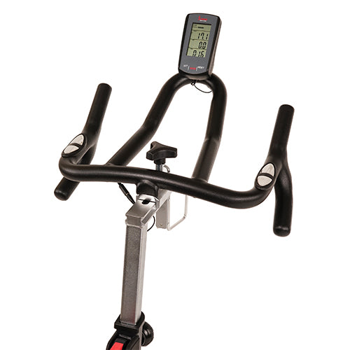 sunny-health-fitness-bikes-magnetic-rear-belt-drive-indoor-cycling-bike-high-weight-capacity-cadence-sensor-and-pulse-rate-sf-b1709-handlebars