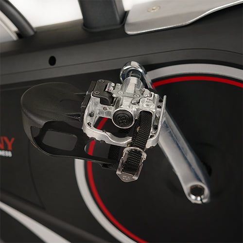 sunny-health-fitness-bikes-magnetic-rear-belt-drive-indoor-cycling-bike-high-weight-capacity-cadence-sensor-and-pulse-rate-sf-b1709-pedals