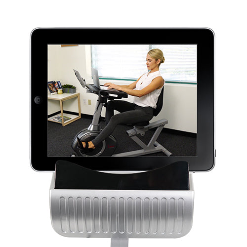 sunny-health-fitness-bikes-magnetic-recumbent-desk-exercise-bike-350lb-high-weight-capacity-monitor-SF-RBD4703-device-holder