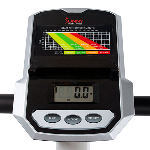 sunny-health-fitness-bikes-magnetic-resistance-upright-bike-advance-digital-monitor-SF-B2906-monitor