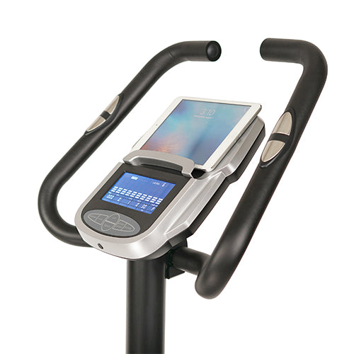sunny-health-fitness-bikes-magnetic-upright-exercise-bike-programmable-monitor-pulse-rate-SF-B2883-tabletholder