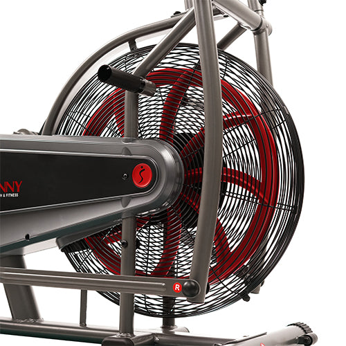 sunny-health-fitness-bikes-motion-air-bike-fan-exercise-bike-unlimited-resistance-tablet-holder-SF-B2916-fanwheel