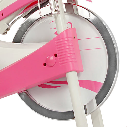 sunny-health-fitness-bikes-pink-belt-drive-premium-indoor-cycling-trainer-P8150-flywheel