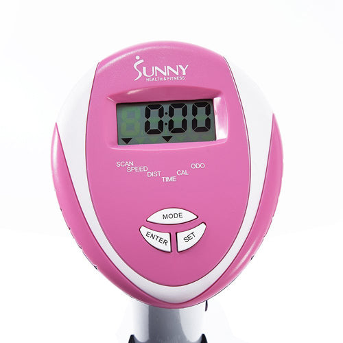 sunny-health-fitness-bikes-pink-magnetic-elliptical-trainer-elliptical-machine-LCD-monitor-P8300-monitor
