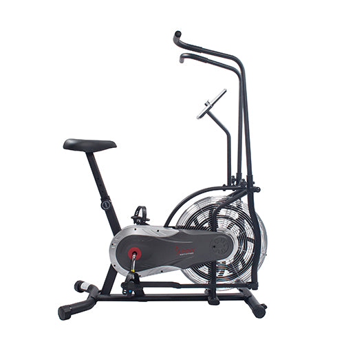 sunny-health-fitness-bikes-zephyr-air-bike-fan-exercise-bike-unlimited-resistance-adjustable-handlebars-SF-B2715-dualbeltchaindrive