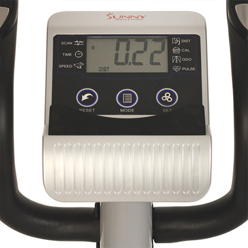 sunny-health-fitness-ellipticals-magnetic-elliptical-machine-device-holder-LCD-monitor-heart-rate-monitoring-SF-E3628-monitor