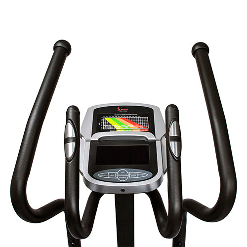 sunny-health-fitness-ellipticals-magnetic-elliptical-machine-tablet-holder-LCD-monitor-heart-rate-monitoring-circuit-zonw-SF-E3862-handlebars