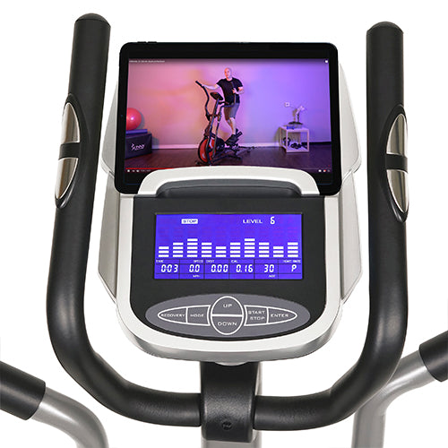 sunny-health-fitness-ellipticals-pre-programmed-elliptical-trainer-SF-E320002-device-holder