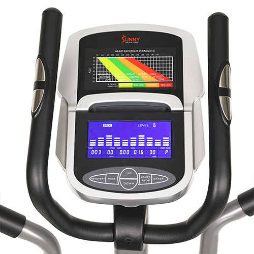 sunny-health-fitness-ellipticals-pre-programmed-elliptical-trainer-SF-E320002-performance-monitor