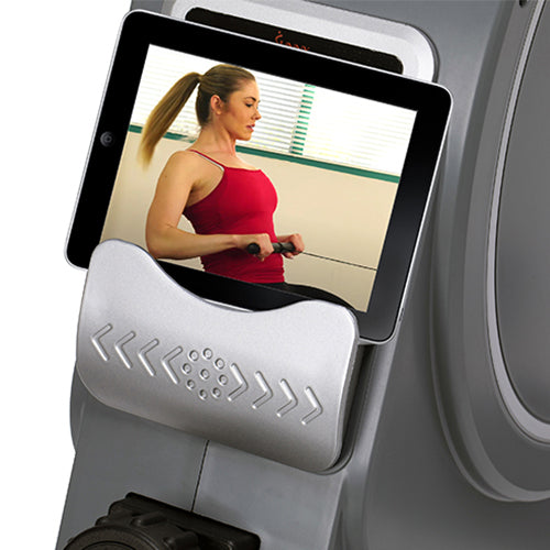 sunny-health-fitness-rowers-magnetic-rowing-machine-rower-5.5-lb-flywheel-LCD-monitor-tablet-holder-SF-RW5885-holder