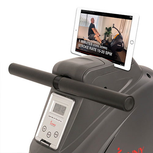 sunny-health-fitness-rowers-magnetic-rowing-machine-rower-LCD-monitor-bottle-holder-synergy-power-SF-RW5801-deviceholder