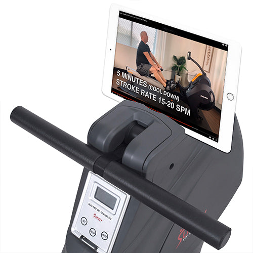 sunny-health-fitness-rowers-multifunction-SPM-magnetic-rowing-machine-SF-RW5941-deviceholder