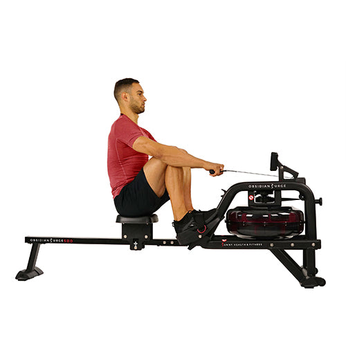 sunny-health-fitness-rowers-obsidian-surge-water-rowing-machine-rower-LCD-monitor-SF-RW5713-highweightcapactiy